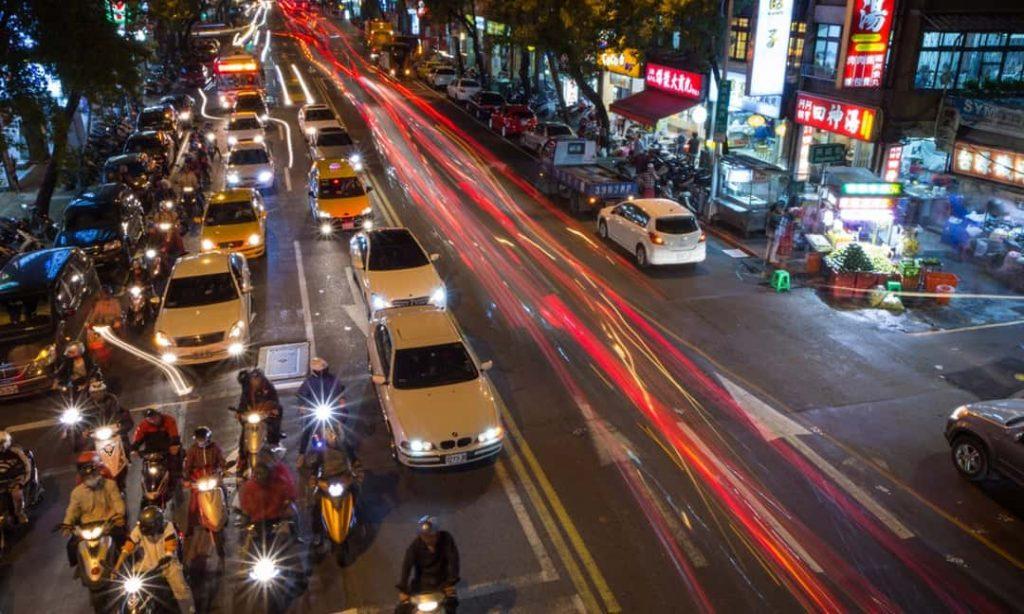 Những người lái xe ở Đài Loan rất tuân thủ luật lệ giao thông