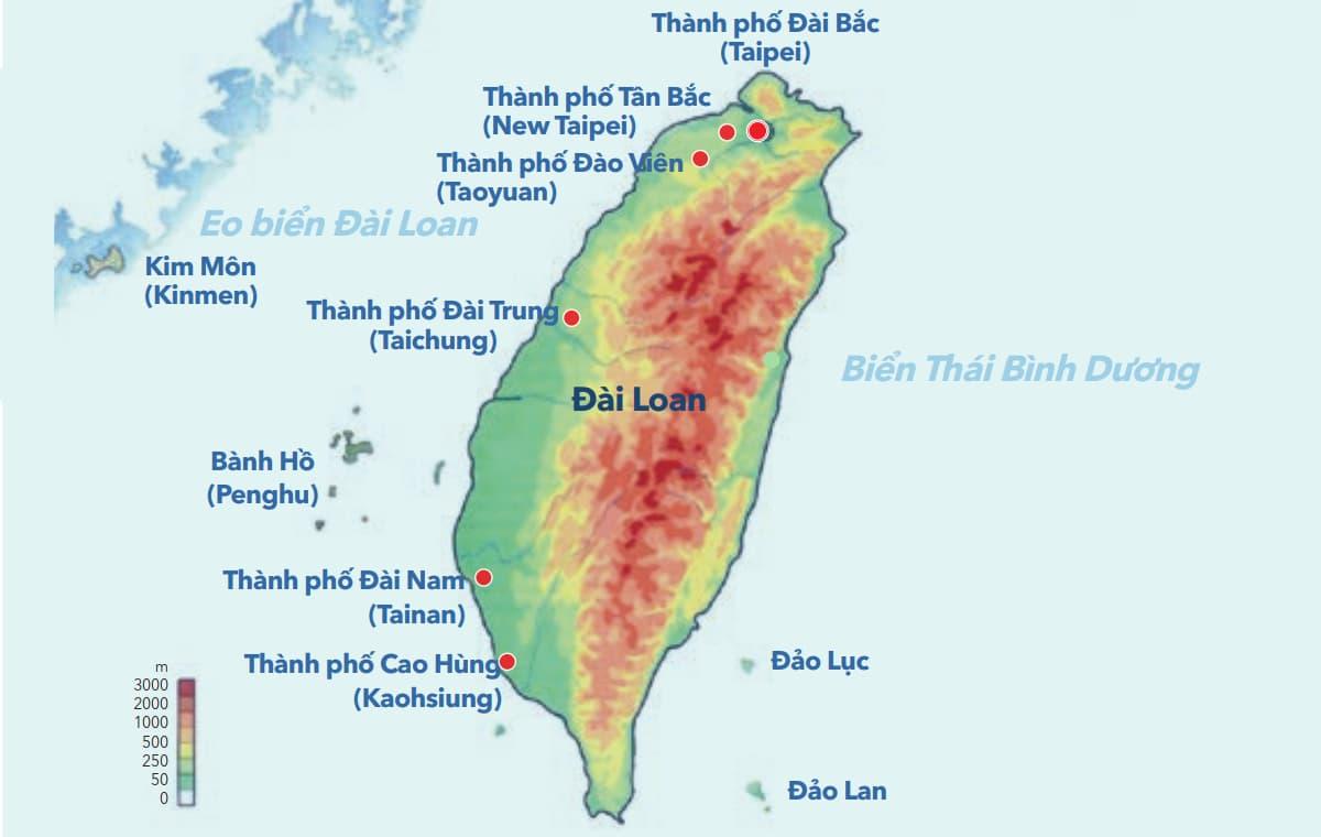 Bản đồ Đài Loan.
