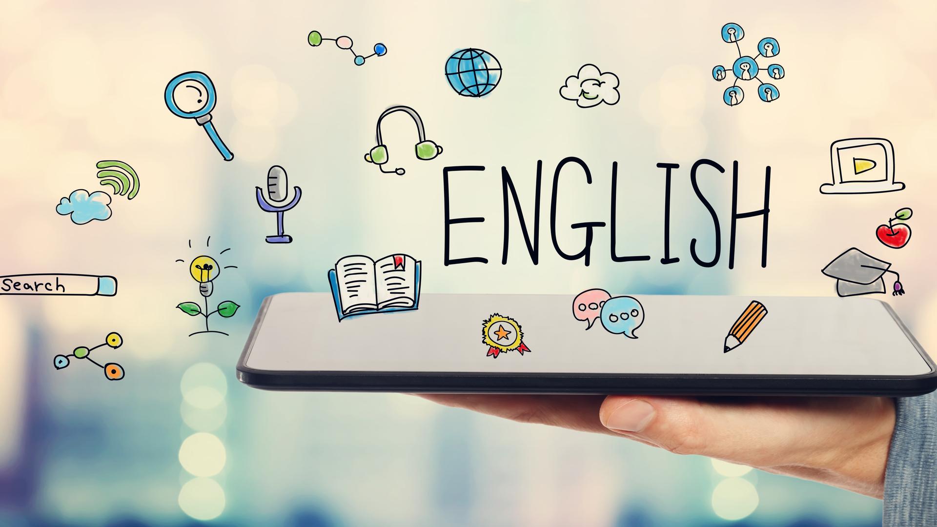 Học tiếng Anh tại nhà.