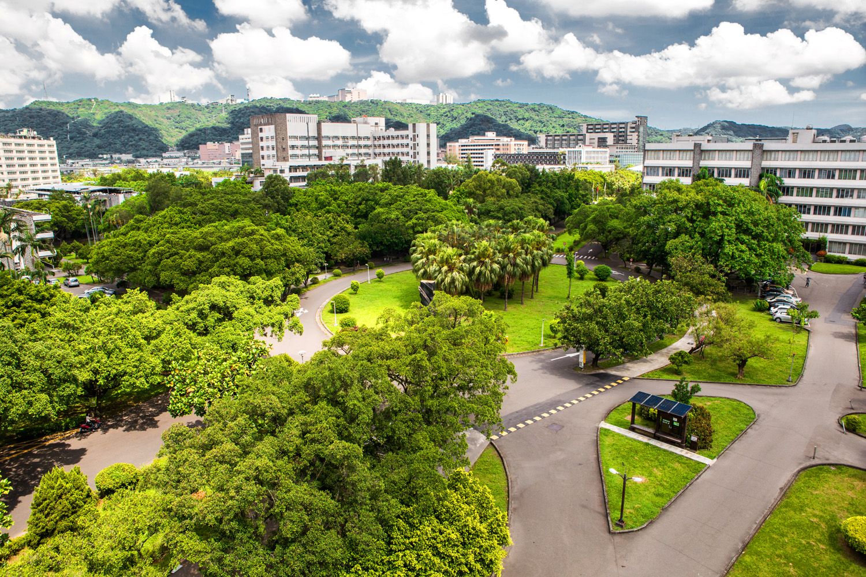 Không gian tràn ngập cây xanh của đại học Phụ Nhân.