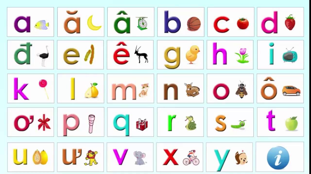 Để học tiếng Việt, bước đầu tiên là phải thuộc và sử dụng được bảng chữ cái Tiếng Việt gồm 29 chữ cái.