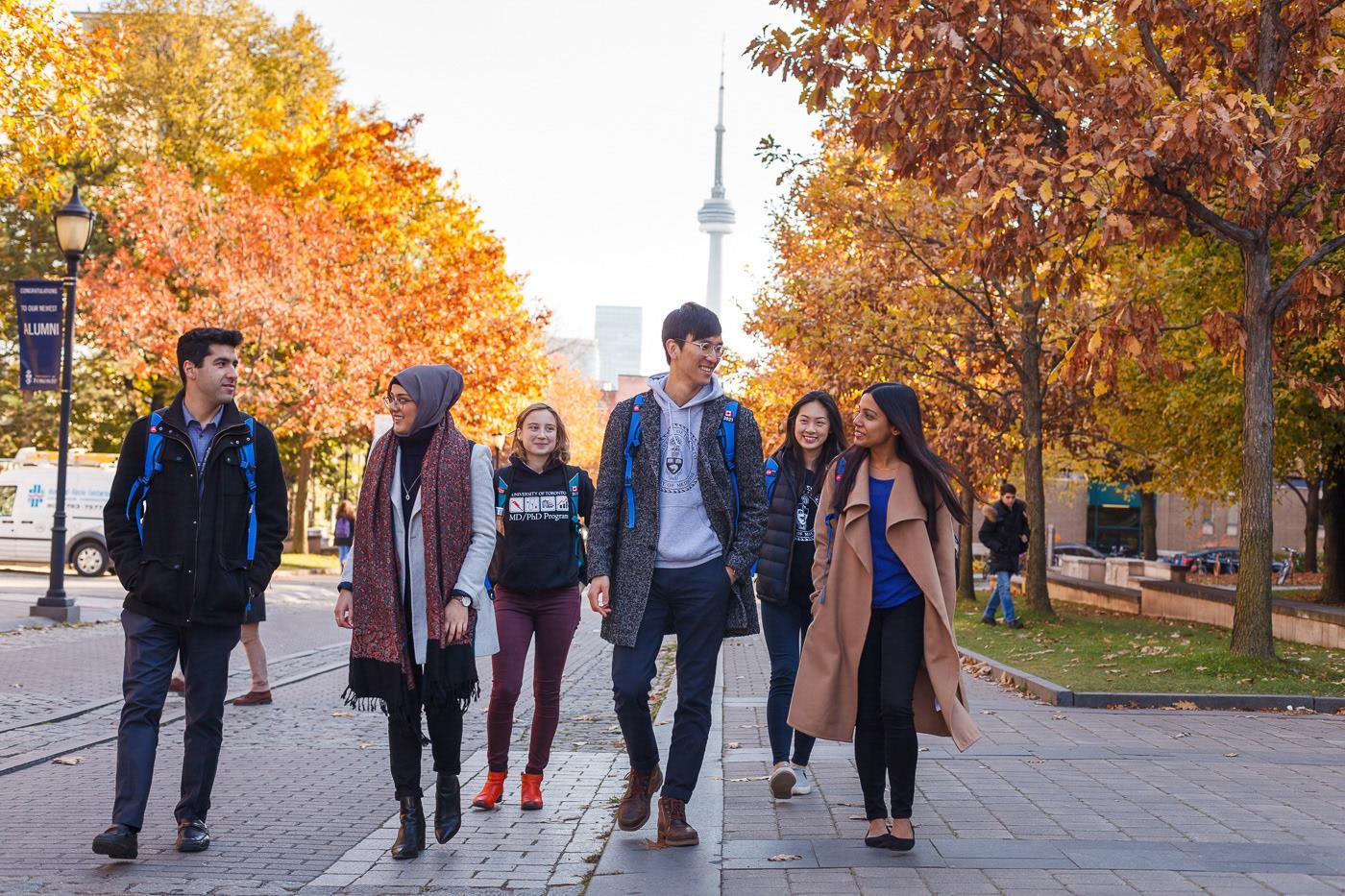 Sinh viên có nhiều lựa chọn ngành nghề để theo đuổi tại trường đại học Toronto.