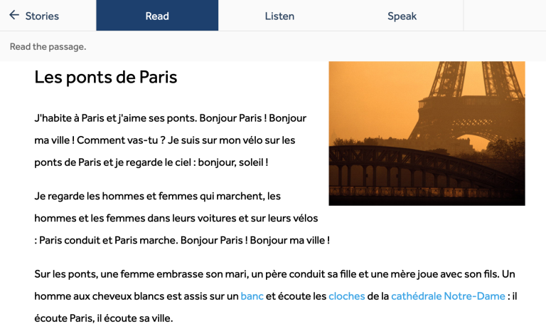 Bài viết về cây cầu Paris của Rosetta Stone