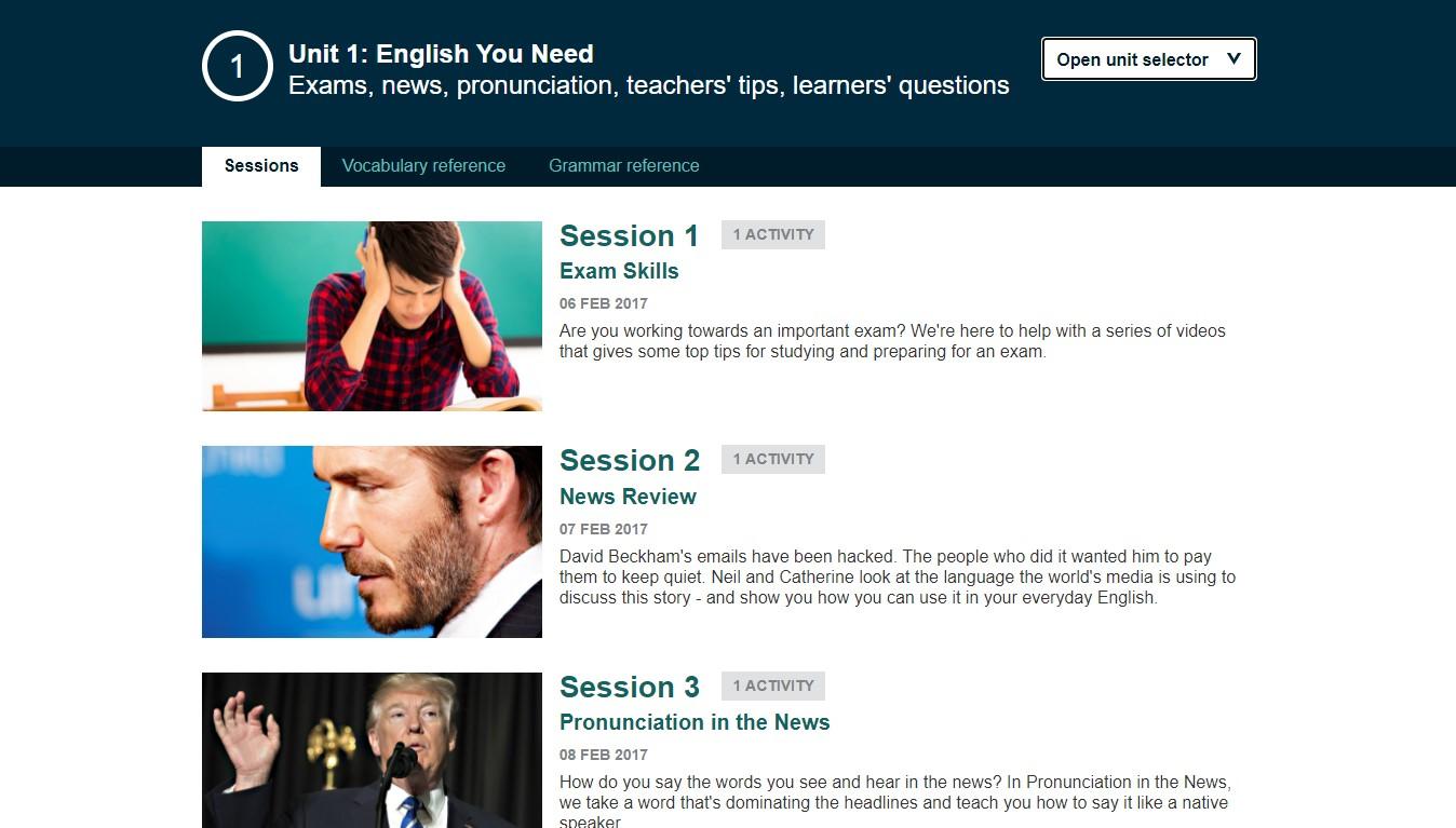 Khóa học English You Need của BBC Learning English