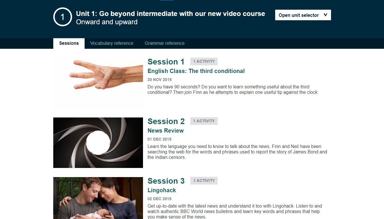 Khóa học Upper-intermediate của BBC Learning English