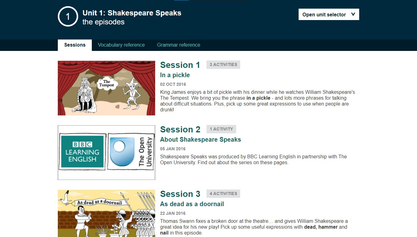 Khóa học Shakespeare Speaks của BBC Learning English