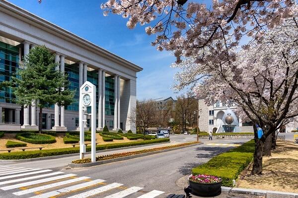 Trường Sahmyook vào mùa xuân